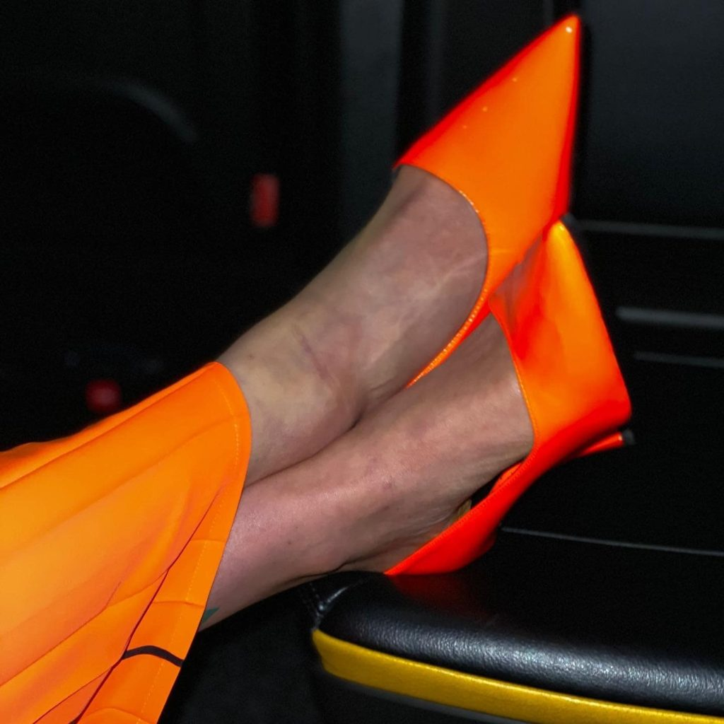 Electric Orange shoes by MM6