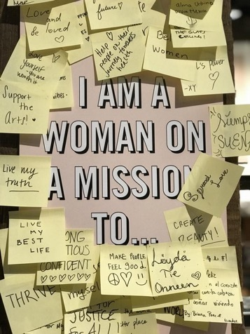 I am a woman on a mission to...