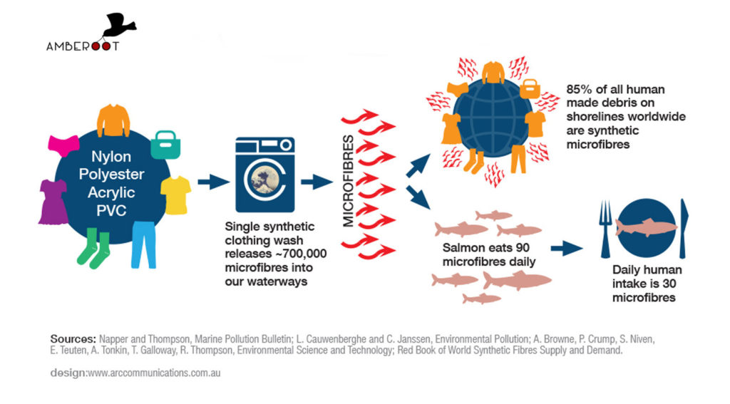 Microfibers in the food chain