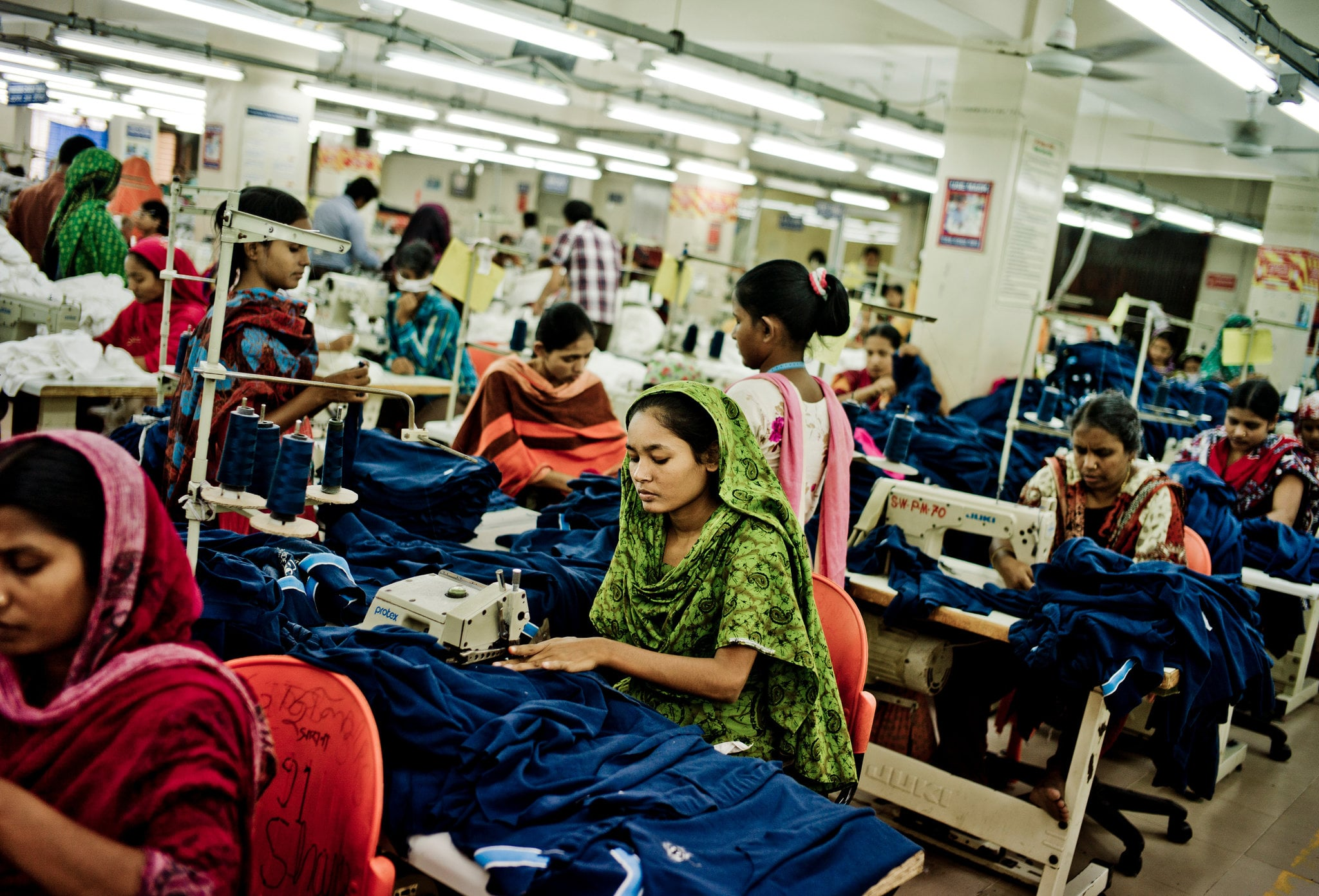 Factory sewing in Bangladesh