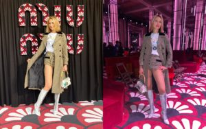 Steffy B at Miu Miu, Paris Fashion Week 2020